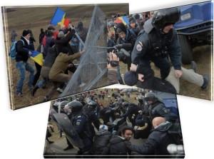 proteste violente pungesti