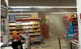 Supermarket din Piteşti vandalizat de suporterii Petrolului