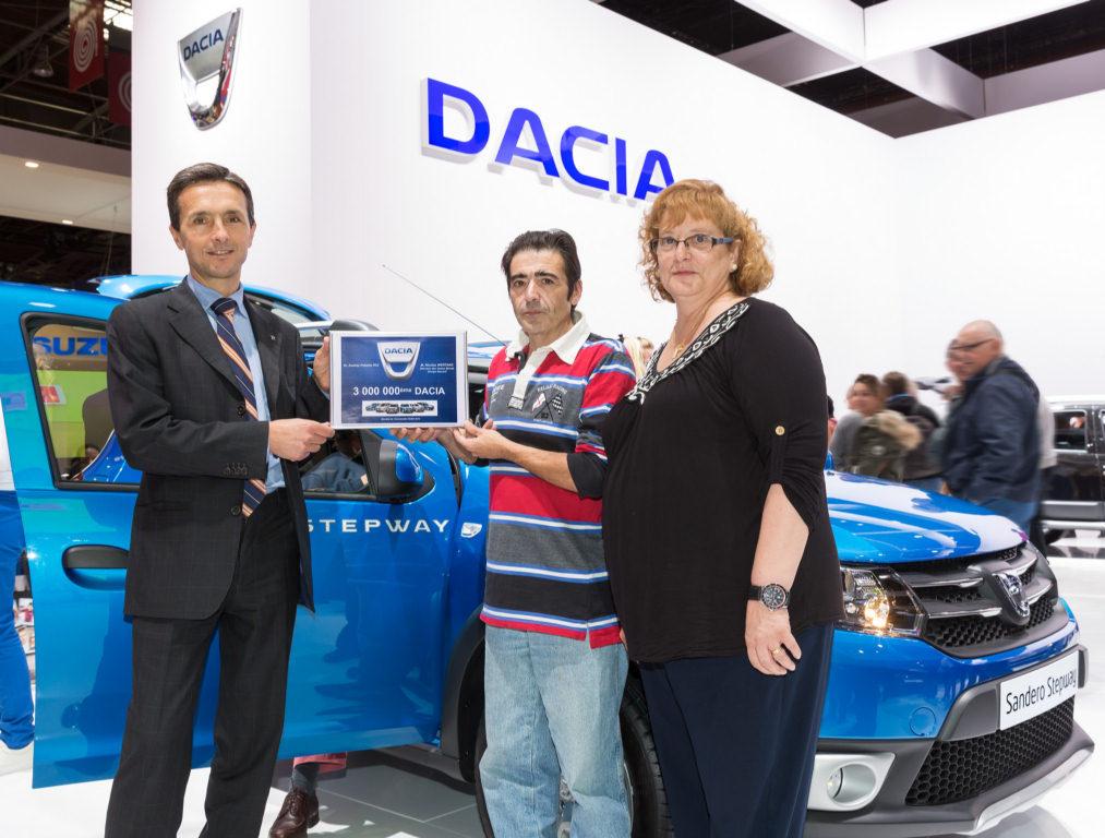 Vehiculul Dacia cu numărul 3 000 000 este un Sandero Stepway și a fost achiziționat de un client din Spania.