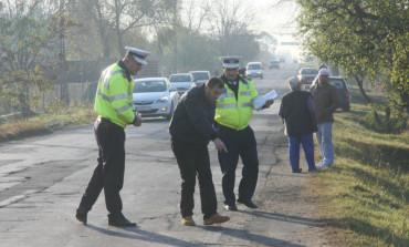 ACCIDENT! Sofer de 33 de ani a rupt un gard la Merisani