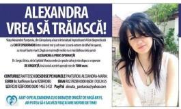 Viaţa Alexandrei Panţuroiu poate fi salvată cu numai 7000 de euro