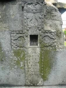 crucea de langa statia petrom de la spital unde ar fi fost  biserica sfanta troita