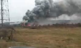 Ultima ora! Incendiu la o vopsitorie in Maracineni