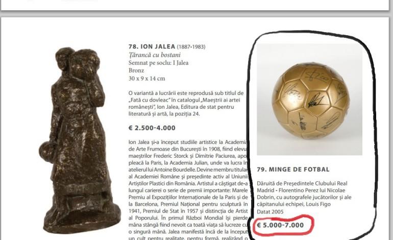 Mingea lui Dobrin este de astazi in catalogul unei cunoscute case de licitatii VEZI LA CE PRET