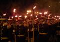 Paradă militară și retragere cu torțe de Ziua Națională la Pitești