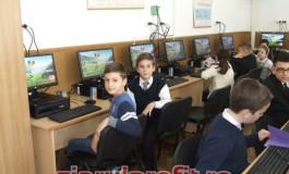 Sponsorizare pentru învăţământ -Kaufland-ul a modernizat laboratorul de informatică al şcolii 4