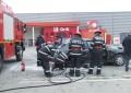 Incendiu in parcarea Kaufland – Un autoturism a luat foc