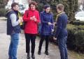 De 1 Martie, tinerii liberali câmpulungeni au împărţit peste 300 de mărţişoare