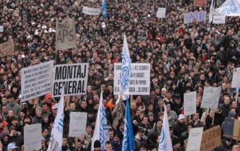 10.000 DE PROTESTATARI asteptati la MIOVENI