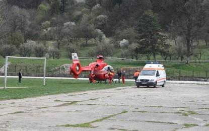 Bebeluş dus cu elicopterul SMURD la Bucureşti