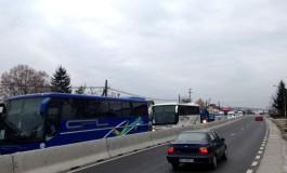 Circulaţie întreruptă în Mărăcineni din cauza unui grav accident de circulaţie