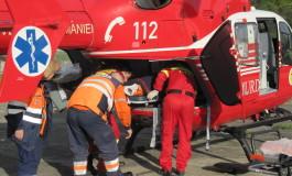 Acum! Copil in stare gravă preluat de elicopterul SMURD