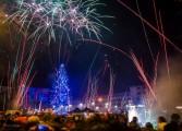 Super foc de artificii de Revelion la Mioveni
