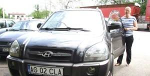 Claudia Radu cu masina