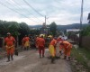 GALERIE FOTO!  Zeci de gospodarii acoperite cu apa si mal - Dezastru in urma ploii la Curtea de Arges