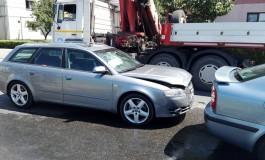 Barbat ranit, masini distruse - Accident in Curtea de Arges