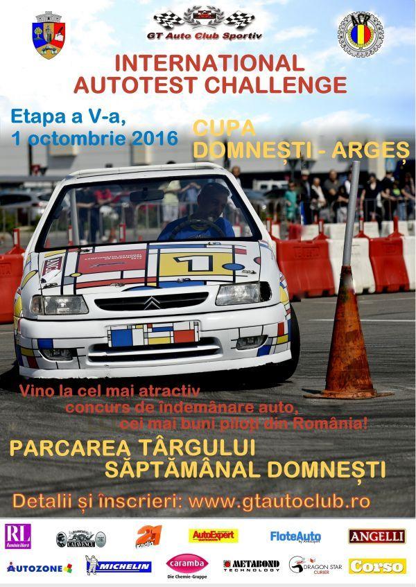 In week-end la Domnesti, se aleg cei mai buni soferi la International Autotest Challenge