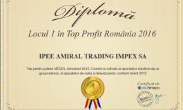 Firma din Curtea de Arges, locul I in Top Profit Romania 2016
