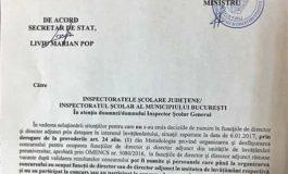 DIRECTORII DE SCOLI, DIN NOU NUMITI POLITIC - Profesorii care nu au promovat concursul de directori pot ajunge in functii prin numire