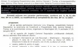 DOCUMENT - TUPEU MARCA PSD ! DRAGNEA a vrut să-şi plătească din bani publici vizita în SUA și cadourile pentru Trump