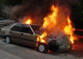 VIDEO! Pericol de explozie -  O masina alimentata cu GPL a luat foc
