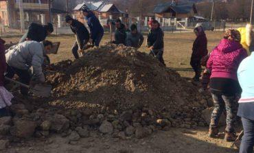 In plinǎ iarnǎ, lucrǎri serioase la Bughea de Jos