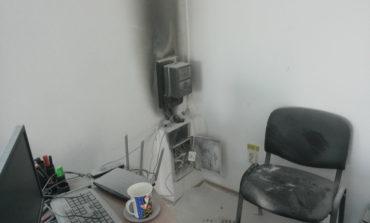 MIOVENI - A luat foc un cabinet stomatologic