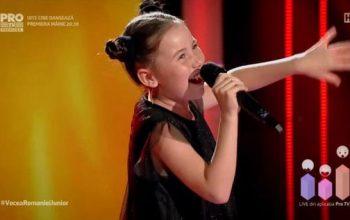 Alexia Niculae, pustoaica din Arges, catre finala Vocea Romaniei Junior