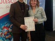 Elevul Florin Enache si profesorul Luiza Herciu, succes rasunator pentru Curtea de Arges