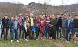 Elevii de la Forestier au plantat copaci in cimitir