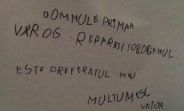 EMOŢIONANT ! Scrisoarea unui puşti de gradiniţă catre primarul oraşului