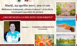 Yasmina Moscovici isi expune lucrarile la Biblioteca Judeteana