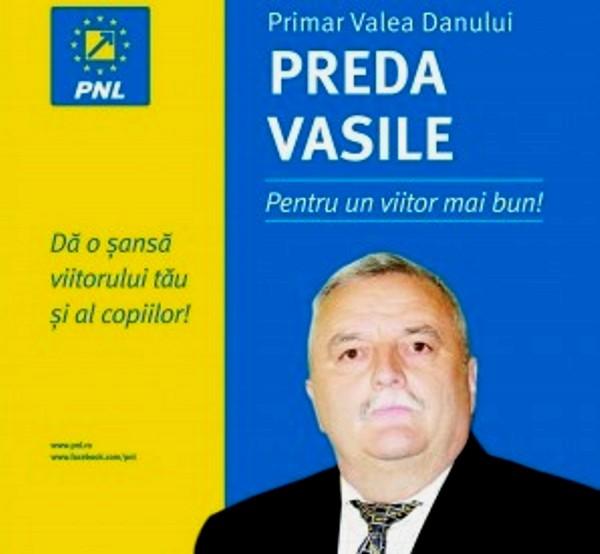 Liberalii pe cai mari – Viceprimarul Vasile Preda a refuzat PSD si este candidatul PNL la Valea Danului