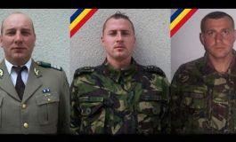 Muscelul îşi ia adio de la EROII săi - Cei trei militari morţi, înmormântaţi astăzi cu onoruri militare