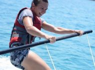 IMAGINEA ZILEI | Simona trăieşte periculos. Halep a plutit pe apă înainte de a merge pe iarbă