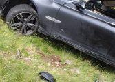 GALERIE FOTO  BMW-ul a fost scos din râpa de pe Transfăgărăşan - UITE CUM ARATĂ ACUM