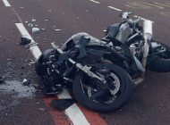 ACUM - ACCIDENT - Motociclist grav ranit !