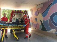 ACUM! Accident in fata Consiliului Judetean- Pieton ranit