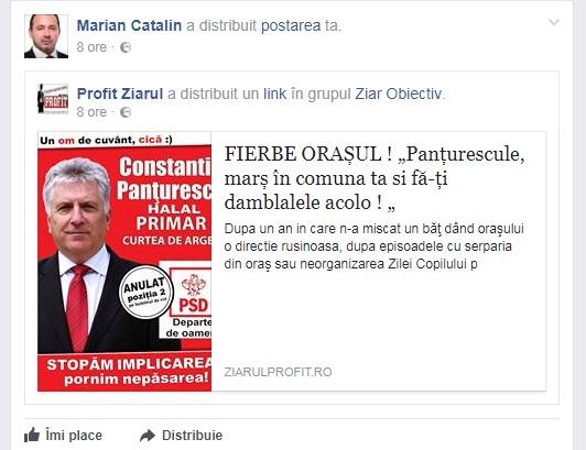 Un deputat PSD de Arges îl face de râs pe Panţurescu pentru ţigania de la Curtea de Arges