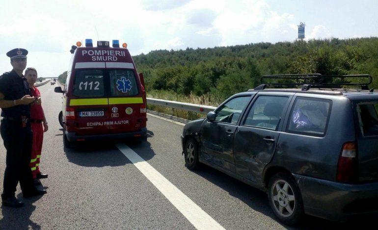 ACUM! ACCIDENT pe A1, langa Pitesti – Sot si sotie la un pas de moarte !