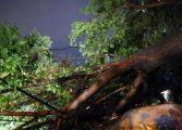 Prăpăd in Câmpulung - In cartierul Visoi un balcon a fost smuls de furtuna
