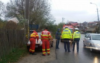 VIDEO! Accident la Curtea de Arges - A ajuns cu masina in sant