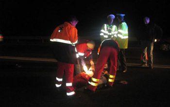 Blocaj pe Autostrada - Accident cu 5 masini - Copil ranit