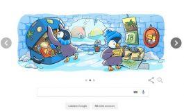 """SĂRBĂTORILE DE IARNĂ. Crăciunul, celebrat de Google printr-un mod inedit. Compania a început numărătoarea inversă cu un doodle de sezon: """"December global festivities"""""""