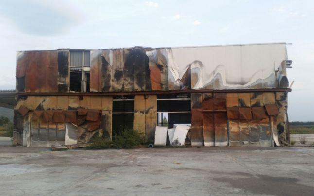 Asa arata, imediat dupa incendiu, fabrica GDM Electronics