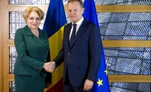 Donald Tusk s-a întâlnit cu Viorica Dăncilă: Ce mesaj i-a transmis preşedintele Consiliului European