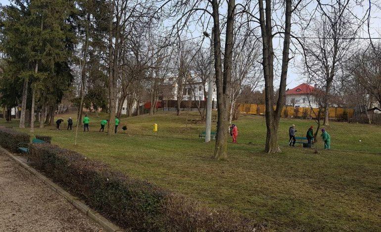 Se lucreaza in parcul Fantana lui Manole