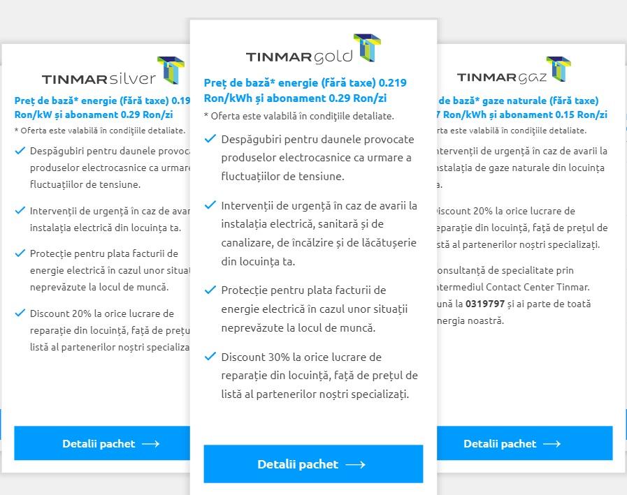 Oferta TINMAR, cel mai mare furnizor privat de energie electrica si gaze este imbatabila