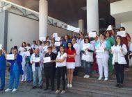 Protest în fața Spitalului de Pediatrie din Pitești - Medicii si personalul sustin ca s-au săturat