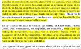 """Turma PSD se strange la miting ! Stenograme: """"Ducem 7.000 la Bucuresti si 13.000 la Targoviste"""". Preotii se implica in sustinerea mitingului lui Dragnea"""